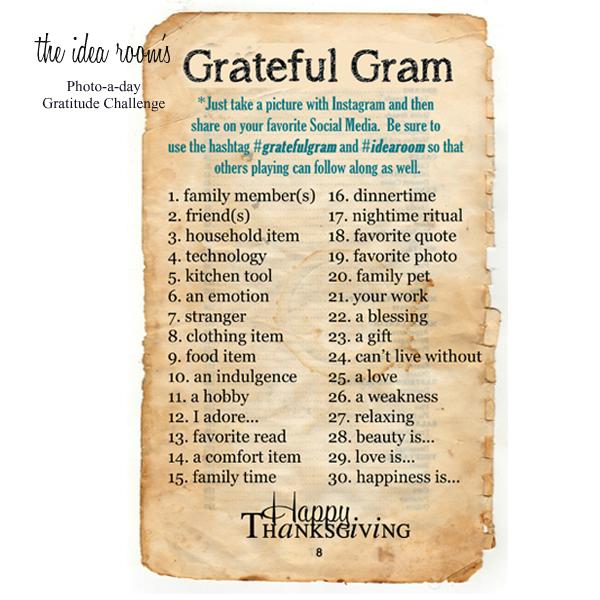 Gratitude Gram—Photo-a-day Challenge