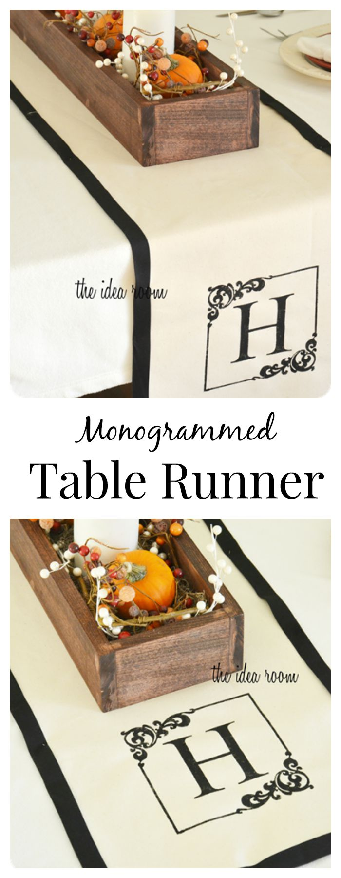 DIY-Monogrammed-Table-Runner