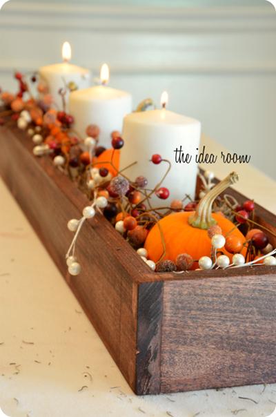 Fall decoration center piece
