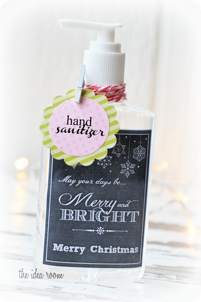 Chalkboard art gift label