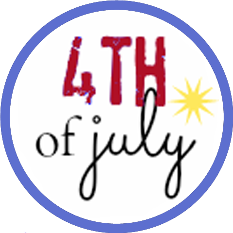 Fourth of july popcorn box label