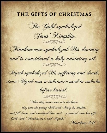 Frankincense & Myrrh Gift Label