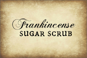 Frankincense Sugar Scrub Label 2