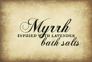Myrrh Lavender Bath Salts Label