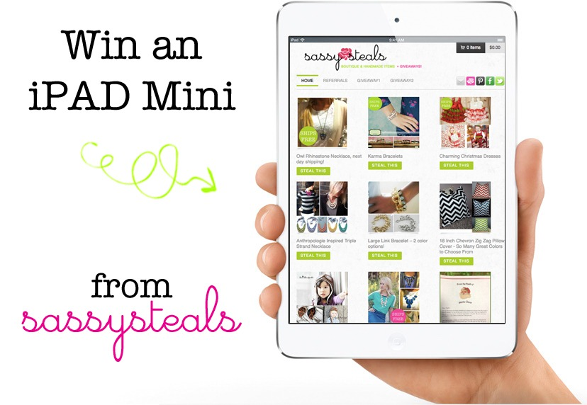 Win an IPad Mini with Sassy Steals