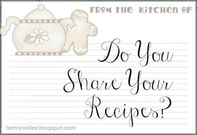 Do You Share Recipes?