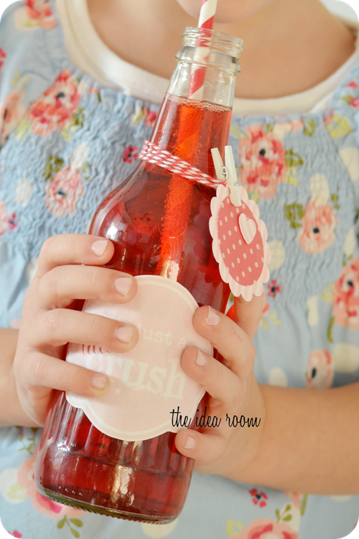 Homemade Valentines Crush Bottles