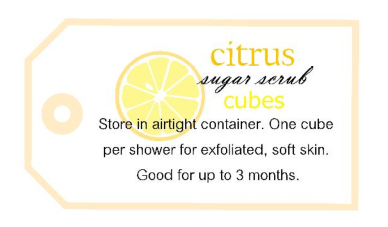 sugar scrub useage label pic