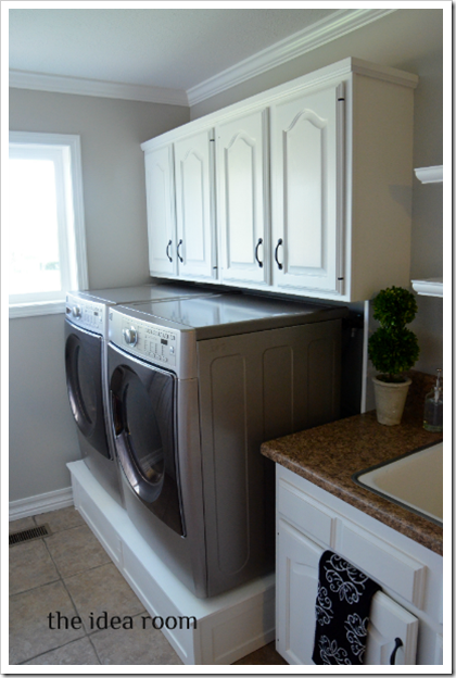 laundry room tour the idea room. Black Bedroom Furniture Sets. Home Design Ideas