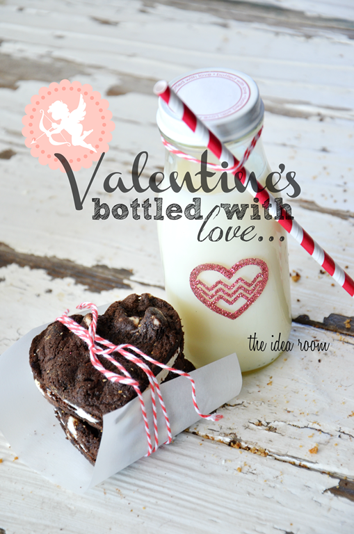 Valentine's Day Crafts gift and milk bottles—Silhouette promotion