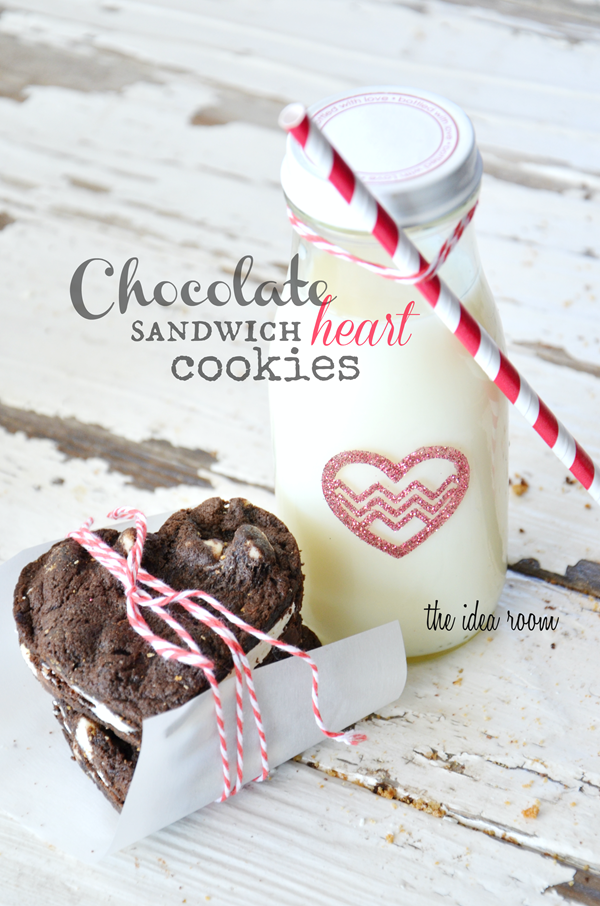 Chocolate Sandwich Heart Cookies - The Idea Room