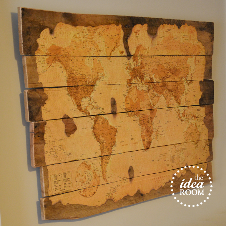 Map Wall Decor Ideas : Wood pallet map tutorial the idea room