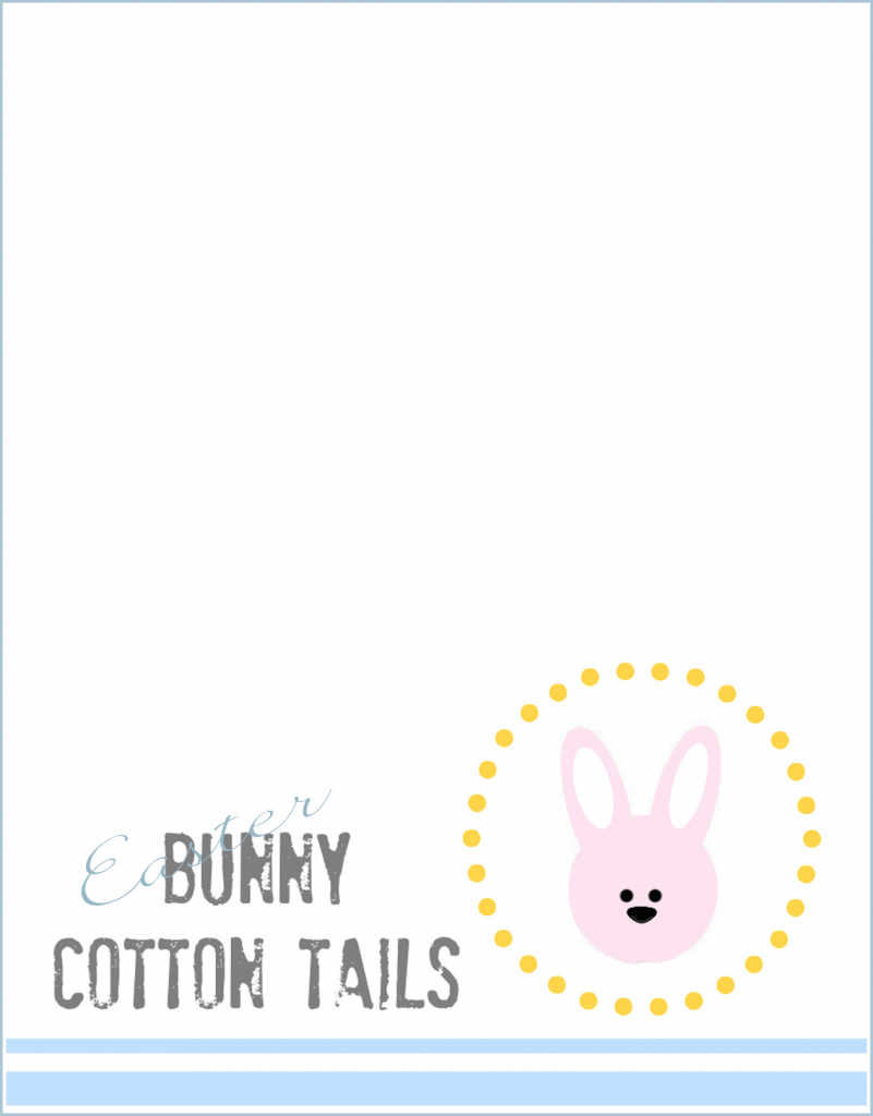 easter bunny tails label