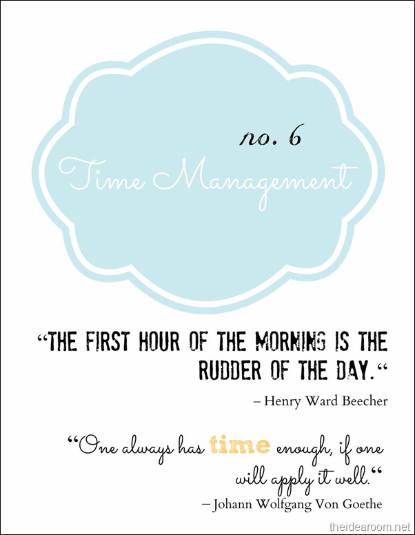 Blogging-Time Management