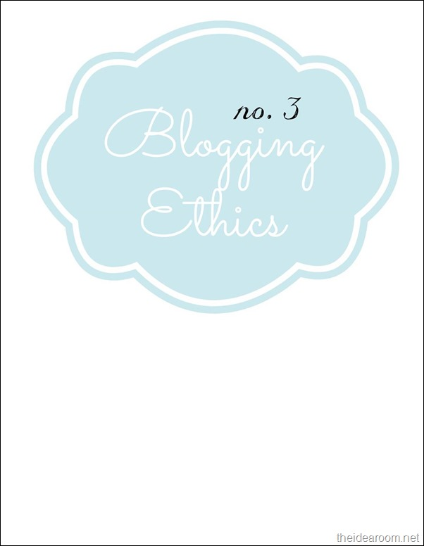 Blogging-ethics