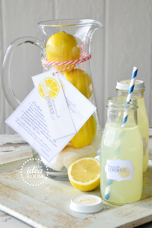 homemade lemonade gift kit and printables the idea room