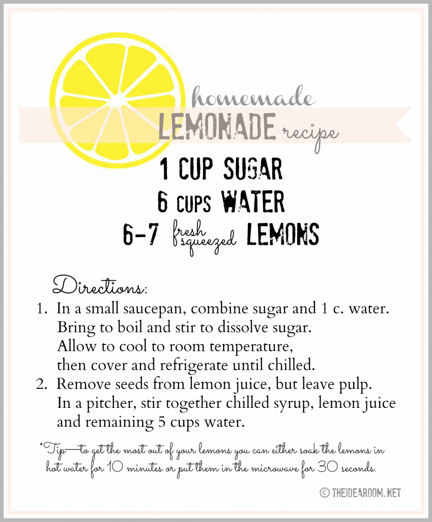 homemade lemonade recipe label final