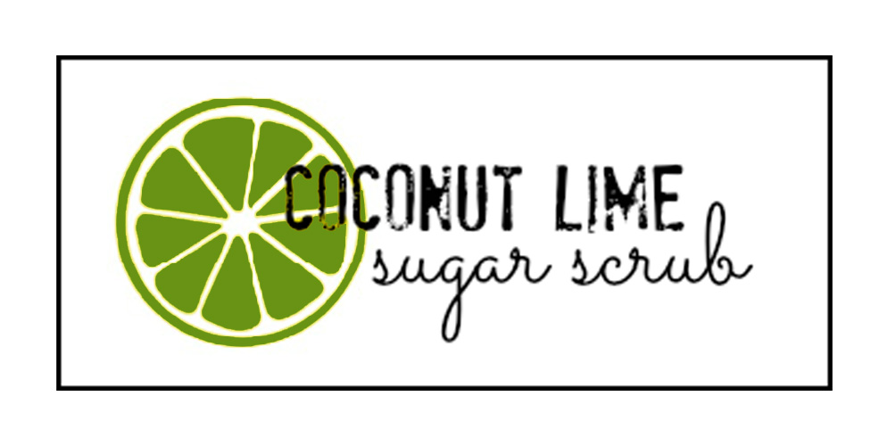 Coconut Lime Sugar Scrub Label image
