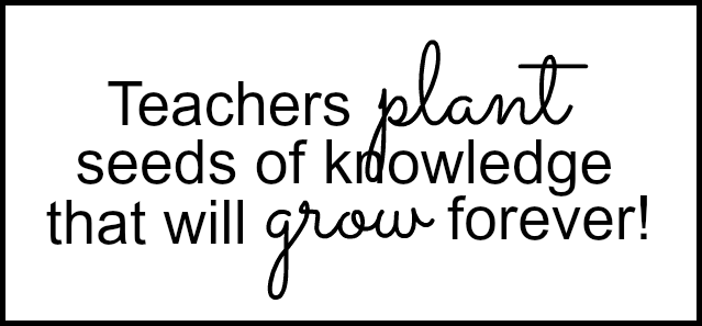 Teacher plant label