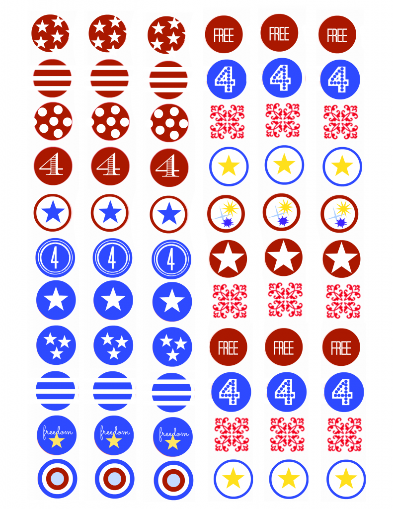 Fourth of July Kiss Stickers Final