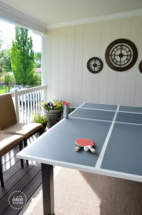 DIY Ping Pong Table - The Idea Room