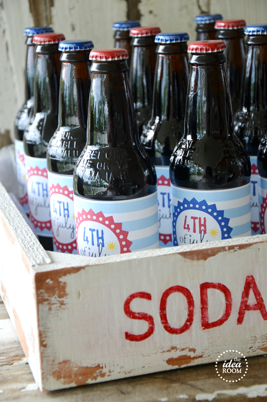 Fourth Of July Soda Bottle Labels