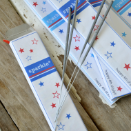 Foruth of July Printables–Sparkler Box Labels