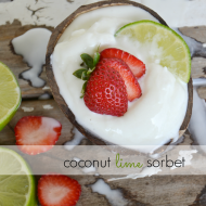 Coconut Lime Sorbet Recipe