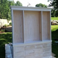 Diy Kitchen Hutch Stack Cabinets