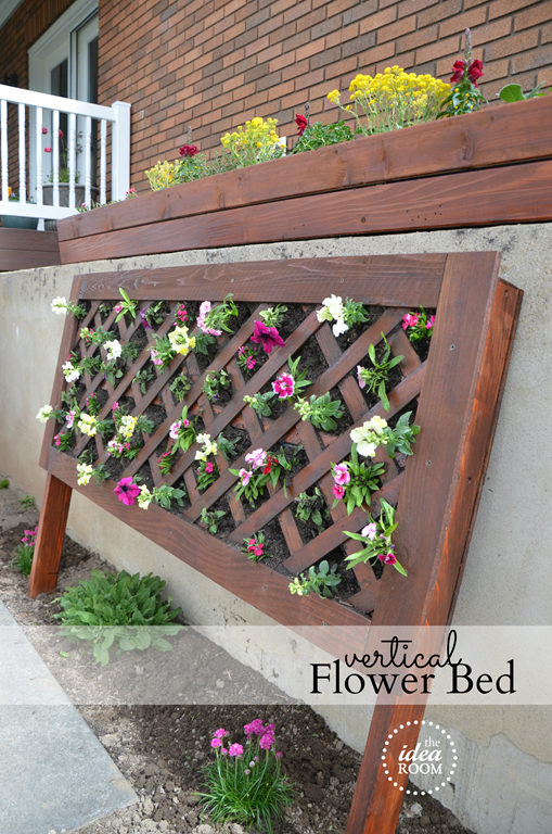 DIY Vertical Flower Bed - The Idea Room