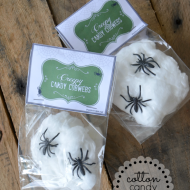 Halloween Treat–Cotton Candy Cobwebs