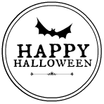 Halloween-printable black