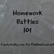 Tips For Helping with the Homework Battle