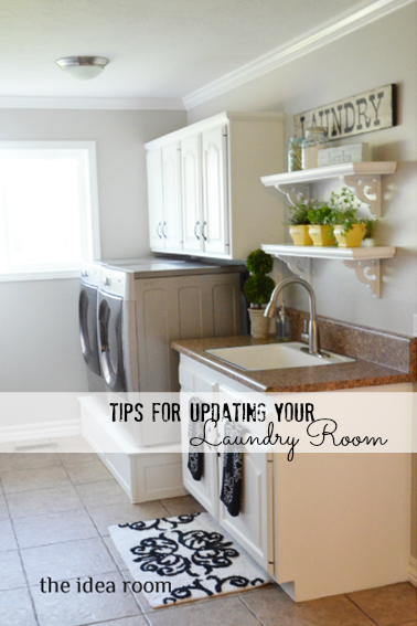 tips for updating laundry room