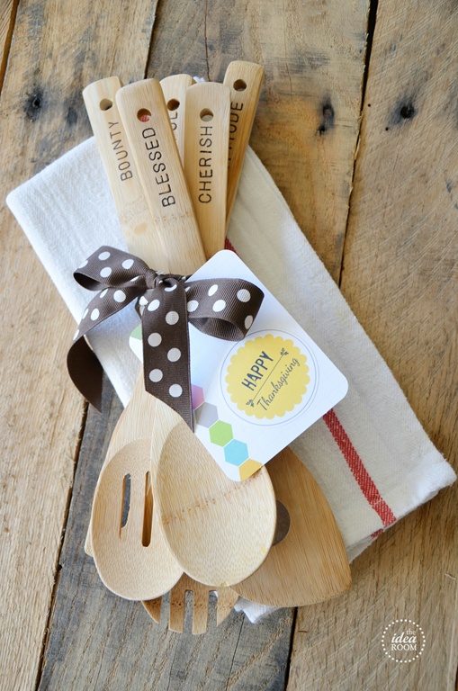 Hostess Gift Hand Stamped Wooden Utensils The Idea Room