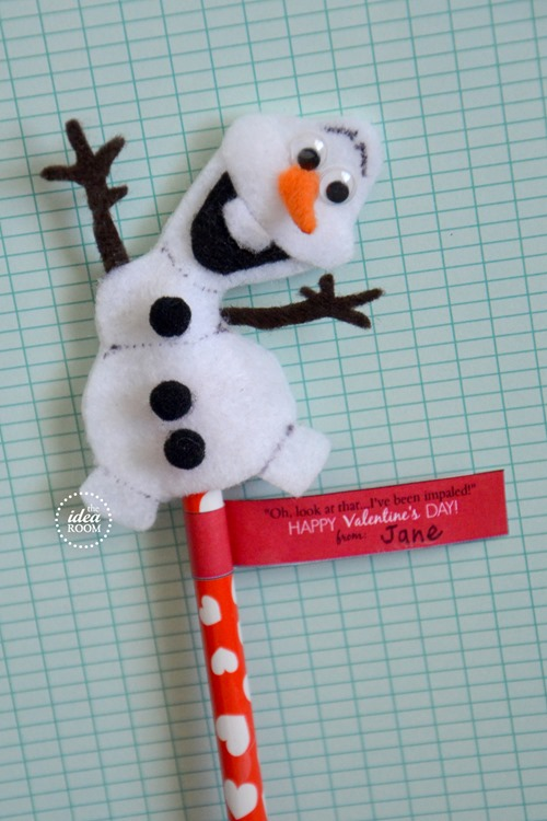 stop by again when I share these pencil tags later. You can put Olaf ...