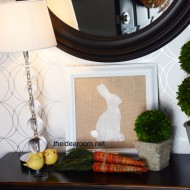 DIY Burlap Bunny–Easter Decor