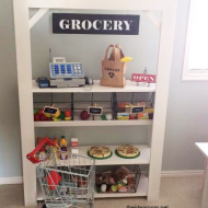 DIY Kid's Grocery Stand