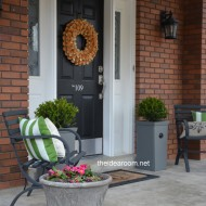DIY Porch Planter Boxes