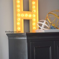 DIY Lighted Sign