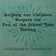 Helping Children Prepare for End of School Year Testing