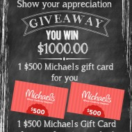 Teacher Appreciation Michaels Giveaway