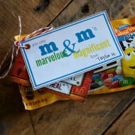 m&m printable gift tag