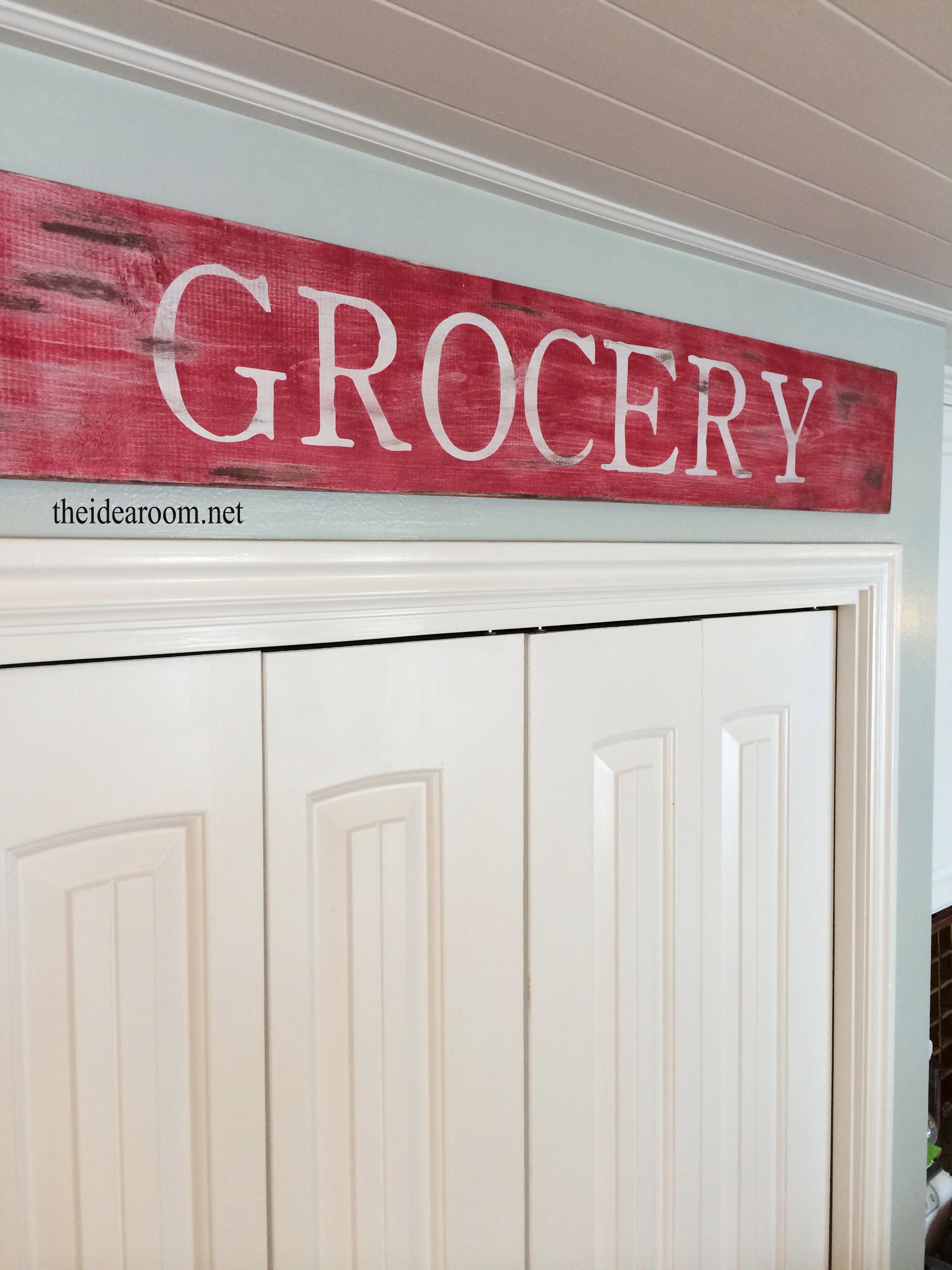 Kitchen Wood Sign The Idea Room