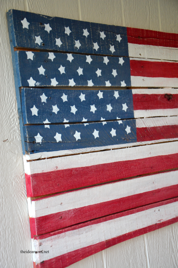 Wood Pallet American Flag The Idea Room