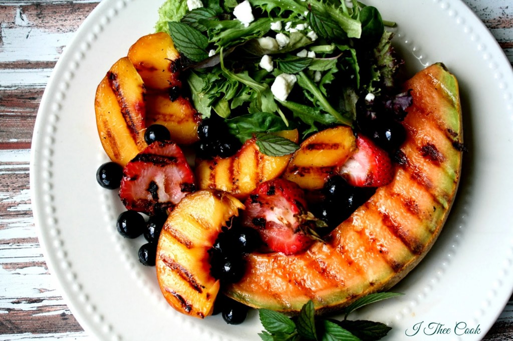 Grilled Summer Fruit Salad