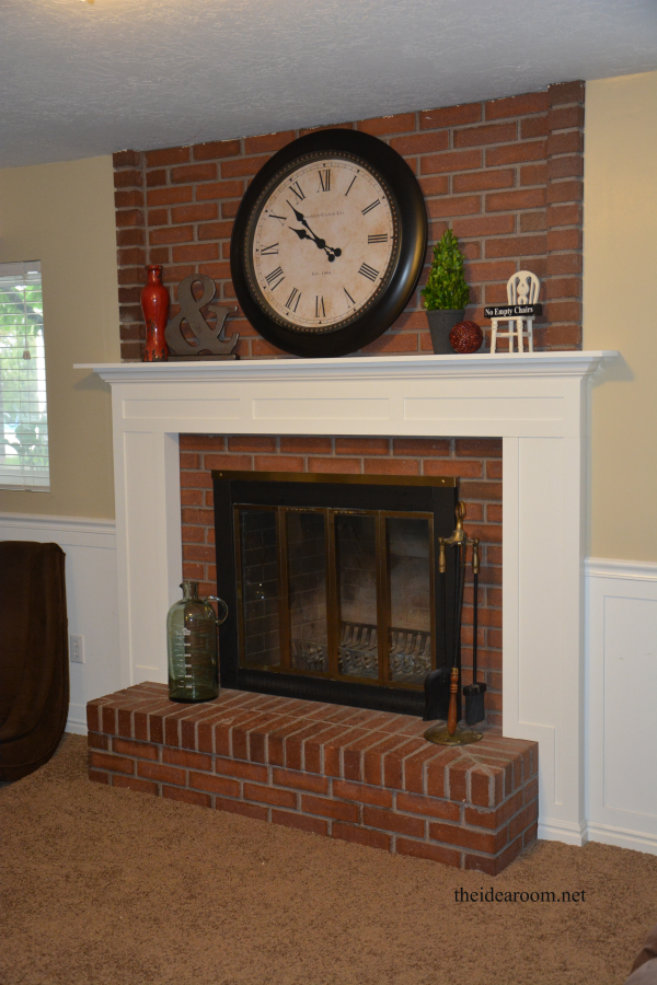 diy fireplace mantel the idea room rh theidearoom net images of brick fireplaces with mantels brick fireplaces with white mantels