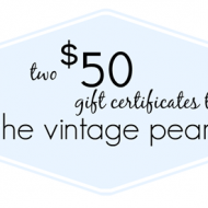 The Vintage Pearl–Back to School Giveaway