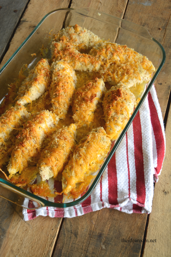 Garlic Cheddar Chicken Strips - The Idea Room