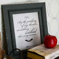 Halloween Printables: Something Wicked This Way Comes